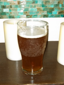 A glass of Crusader Ale